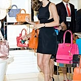 Miranda Kerr attended a promotional event for Samantha Thavasa handbags at Lotte Department Store.
