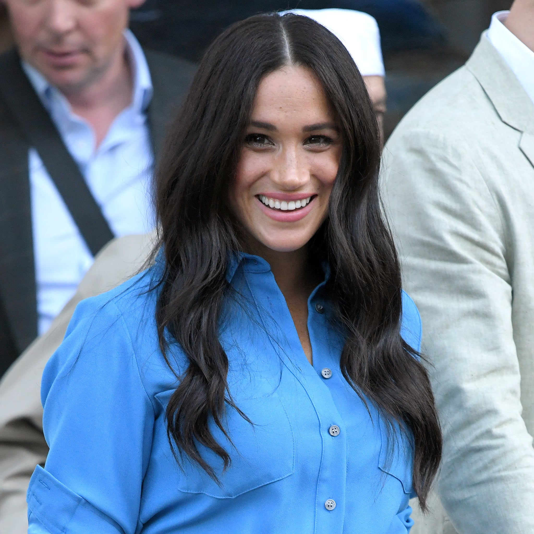 meghan markle s hairstyles during southern africa royal tour popsugar beauty australia southern africa royal tour