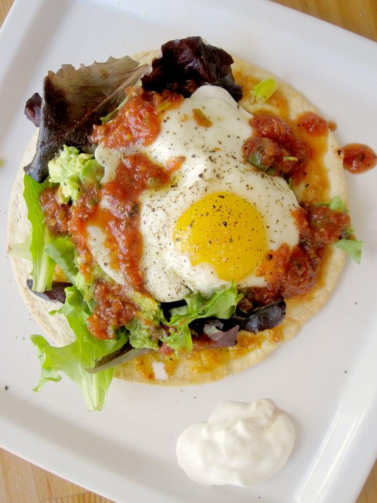 Fried Egg on a Crispy Tortilla