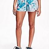 Loose-Fit Printed Running Shorts