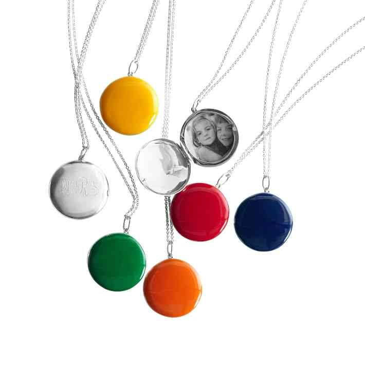 Mark & Graham Enamel Locket Necklace