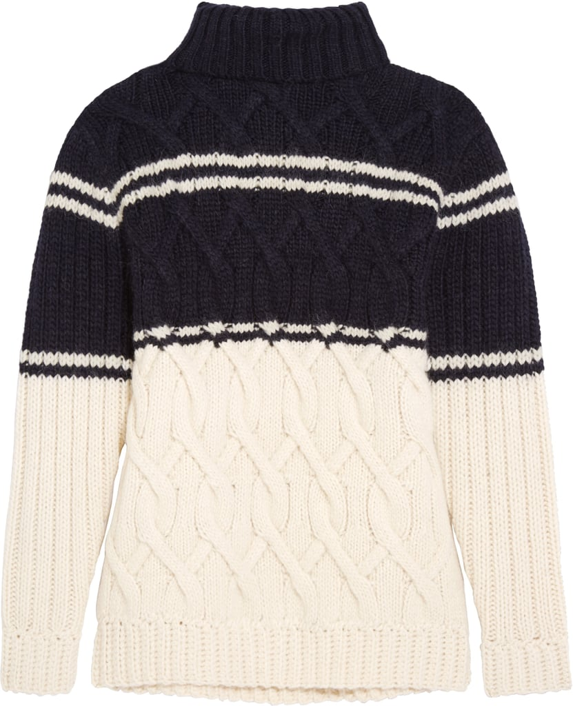 Edna Cable-Knit Turtleneck Sweater ($200)