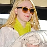 Pictures of Breaking Dawn's Dakota Fanning Leaving From LAX