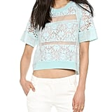 Rebecca Taylor Lace Crop Top