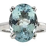 """Aquamarine is another good alternative to a diamond engagement ring. It is a relatively hard stone that holds up well to everyday wear. The light blue hue is very easy to wear and looks great in traditional engagement ring styles. Aquamarine can also range in price to accommodate many budgets."""