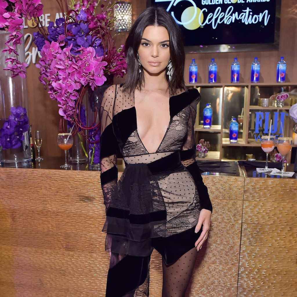 Kendall Jenner Golden Globes Afterparty Dress 2018
