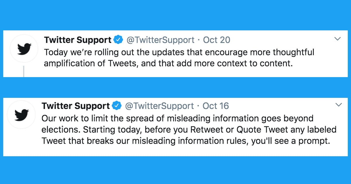 Twitter Added New Retweet Rules Ahead of the Election, Including a Quote Tweet Function