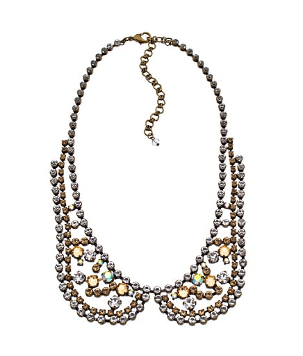 A more delicate iteration, we could see this Sorrelli Crystal Sunset Bib Necklace ($180) offsetting our cozy sweaters with a little sparkle.
