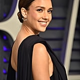 Jessica Alba With Hair Pulled Back 2019