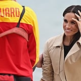 Meghan Accessorised With a Gold Shaun Leane Bangle and Pearl Bracelet