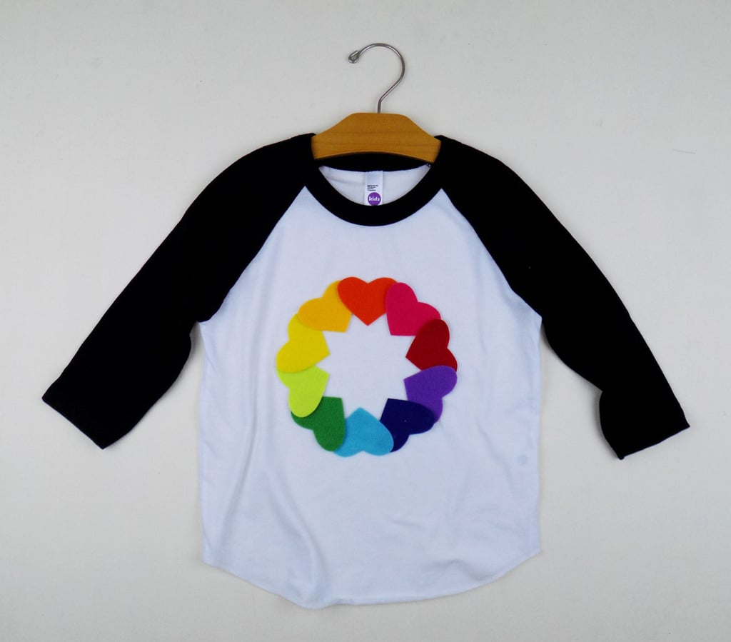 Rainbow Heart Baseball Tee