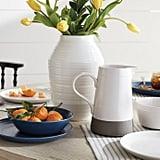 12-Inch Ceramic Vase in White