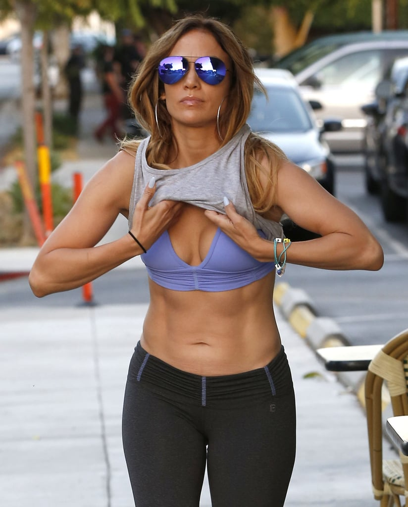 Jennifer Lopez's Abs After Working Out