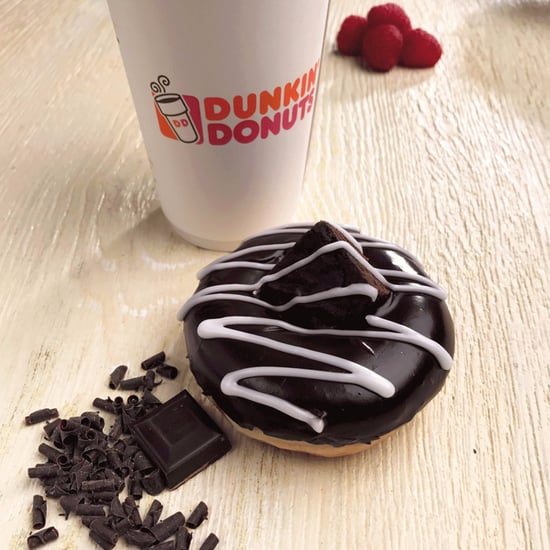 Dunkin' Donuts Raspberry Chocolate Brownie Doughnut
