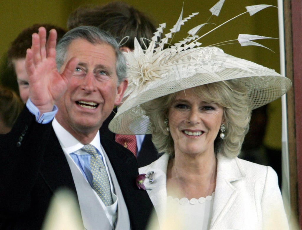 Prince Charles and Camilla Parker Bowles   The Bride: Camilla Parker Bowles, the one-time lover of Prince Charles who divorced her first husband in 1995. The Groom: Charles, Prince of Wales, Britain's longest-serving heir apparent. When: April 8, 2005. It was delayed a day so Prince Charles and other guests could attend the funeral of Pope John Paul II. Where: Charles became the first member of the royal family to marry in a civil ceremony. It took place at Windsor Castle and was followed by a religious blessing at St. George's Chapel. The queen chose not to attend the civil marriage but did attend the religious blessing and host a reception after.