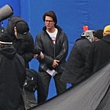 Pictures of Tom Cruise Filming Mission Impossible 4