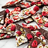 Bittersweet Chocolate Swirl Fruit and Nut Bark