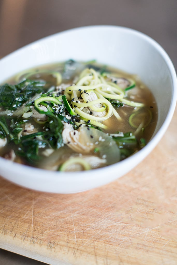 Miso Ramen Zucchini Noodle Soup With Chicken