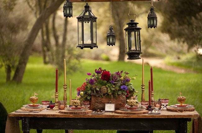 Rustic Princess Bride Tablescape