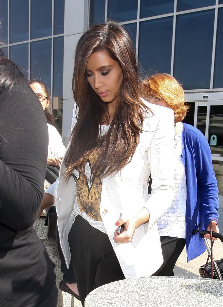 Kim Kardashian Returns to LA Without Rumored Boyfriend Kanye West