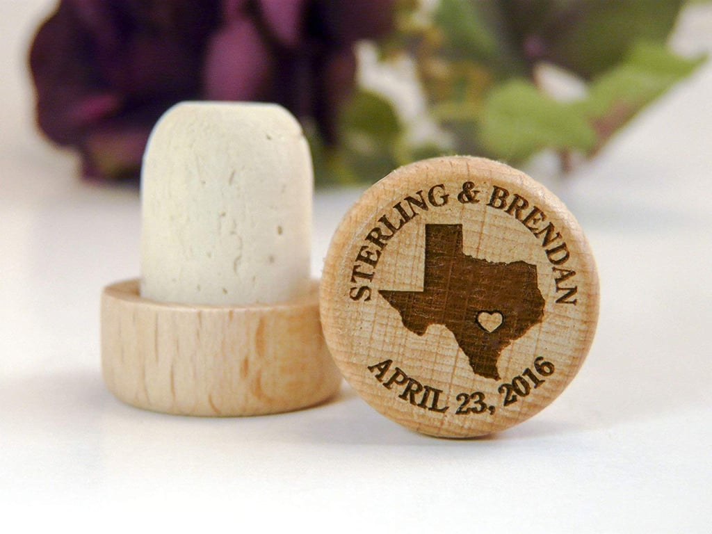 Laser Engraved Personalized Wood Wine Stopper