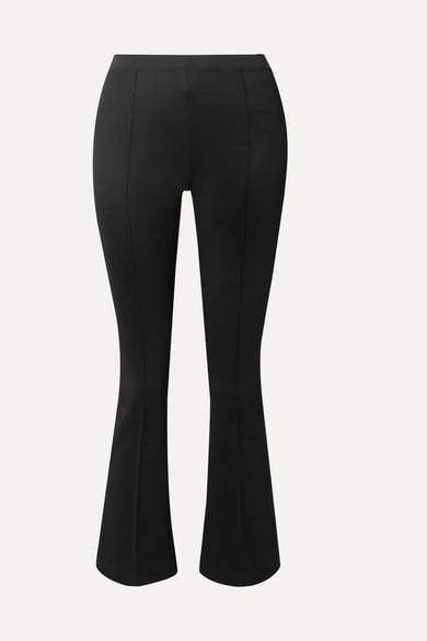 Helmut Lang - Cropped stretch-jersey flared pants
