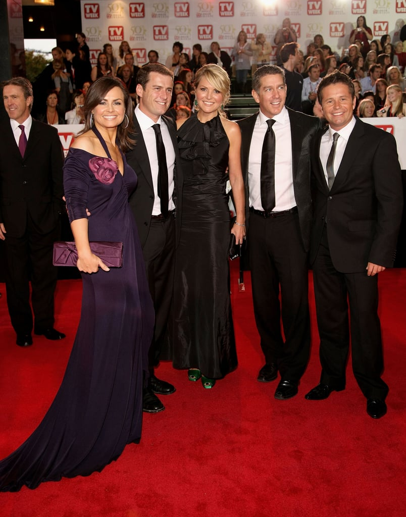 Arriving at the 2008 Logies with Karl Stefanovic, Georgie Gardner, Cameron Williams and Steve Jacobs.