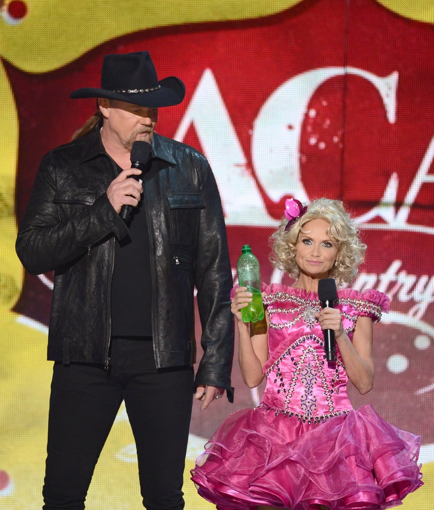 """Kristin Chenoweth showed off her """"go go juice"""" while dressed up as Honey Boo Boo."""