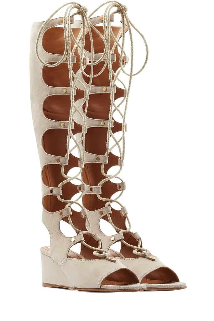 3f3853eb6565 Chloé Foster Wedge Tall Gladiator Sandals (£1