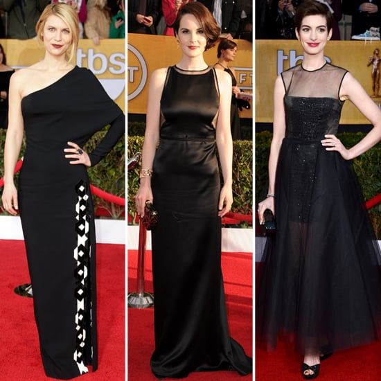 Sag awards 2013 red carpet black dress trend popsugar fashion - Black and white red carpet dresses ...