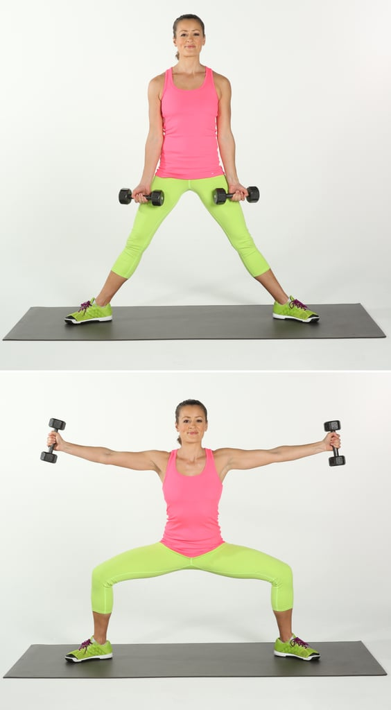 Sumo Squat With Side-Arm Raises