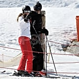 Kate Middleton decided which path to take down the mountain in France.