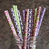 English Garden Party Paper Straws