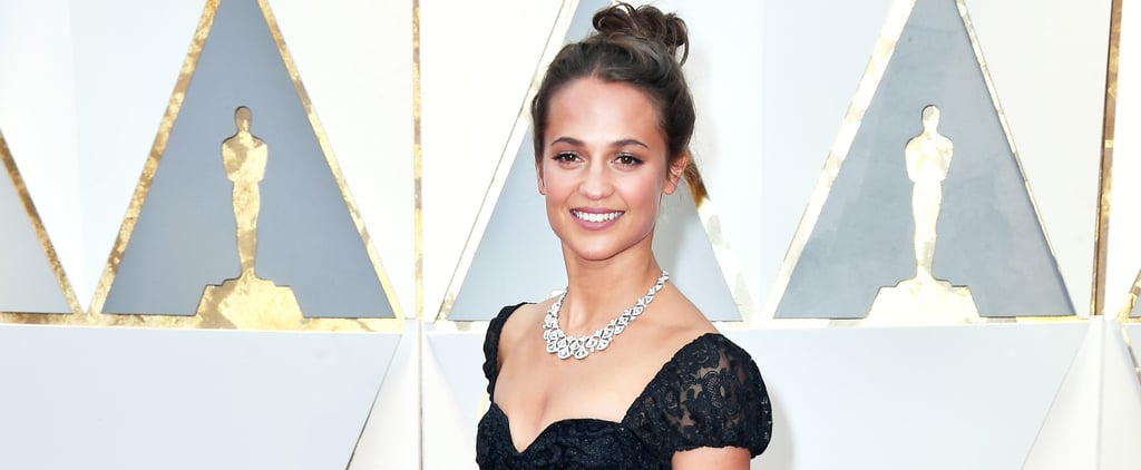 Alicia Vikander's Oscars Dress Finishes With an Unexpected Twist