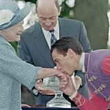 Frankie Dettori and the Queen Mother, 1997