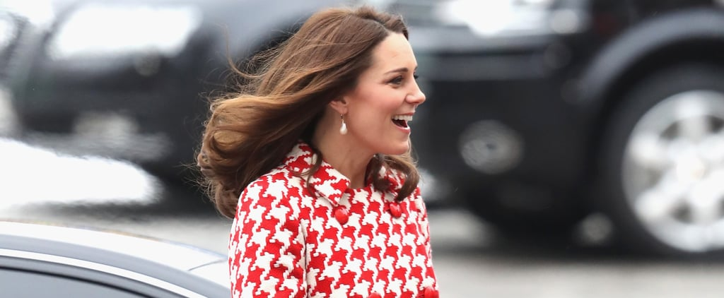 Kate Middleton's Houndstooth Coat Is Here to Brighten Your Morning