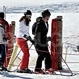 Kate Middleton headed down the mountain in France.