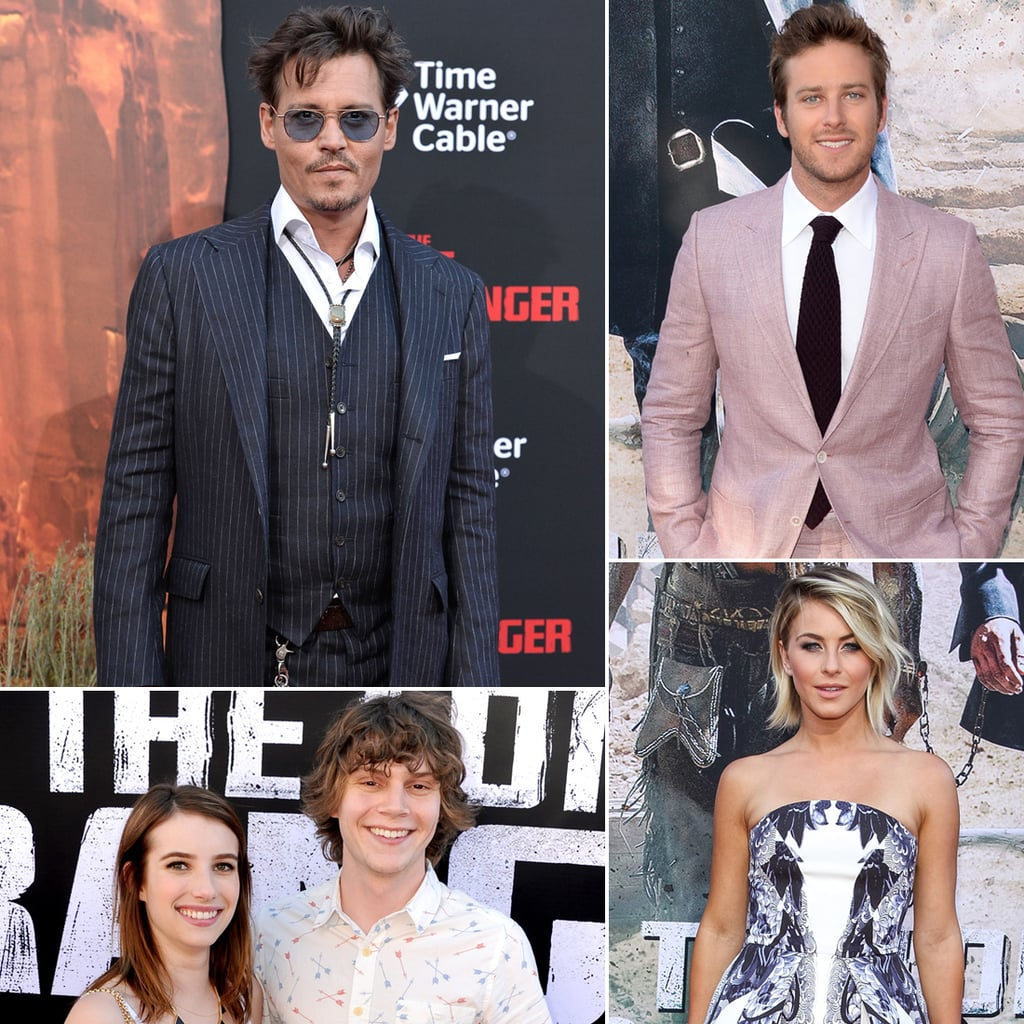 Johnny Depp and Armie Hammer at The Lone Ranger CA Premiere