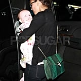 Jessica Alba at LAX with Haven.