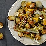 Roasted Fennel & Brussels Sprouts with Orange and Almonds
