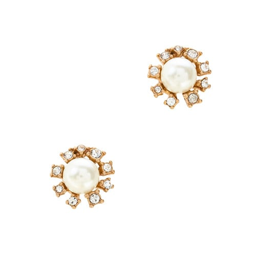 J.Crew Jeweled Pearl Earrings