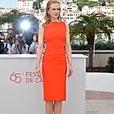 A totally picturesque moment with Nicole Kidman in her brilliantly-hued sheath.