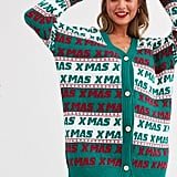 ASOS Design Christmas Cardigan Dress