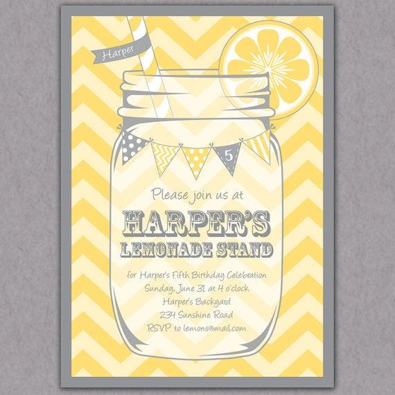 printable lemonade invitations