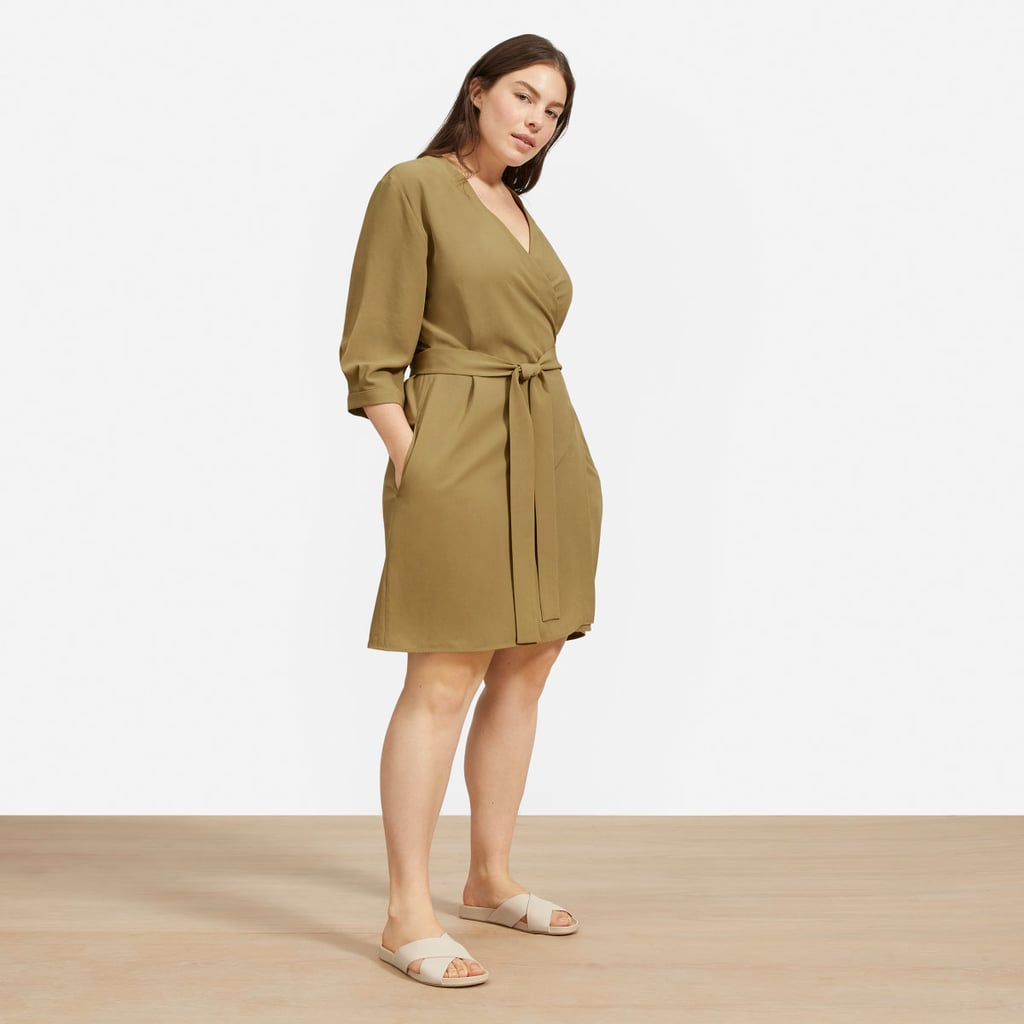 e12211e4050 Everlane The Japanese GoWeave Long-Sleeve Mini Wrap Dress