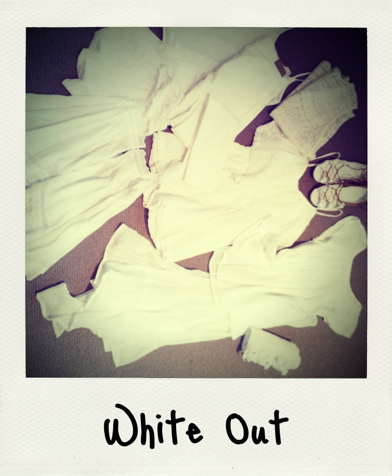You'd think packing for a family holiday to Fiji wouldn't require much planning, but that's not really my style. Here are just some of the white pieces I took away with me, including playsuits, sarongs, sandals and dresses. I'm a little obsessed with the Apict polaroid-style app — adorbs, right?