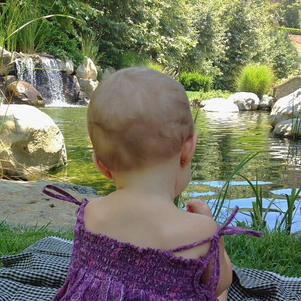 Vivian Brady took in the serene scenery while out with her mama. Source: Instagram user giseleofficial