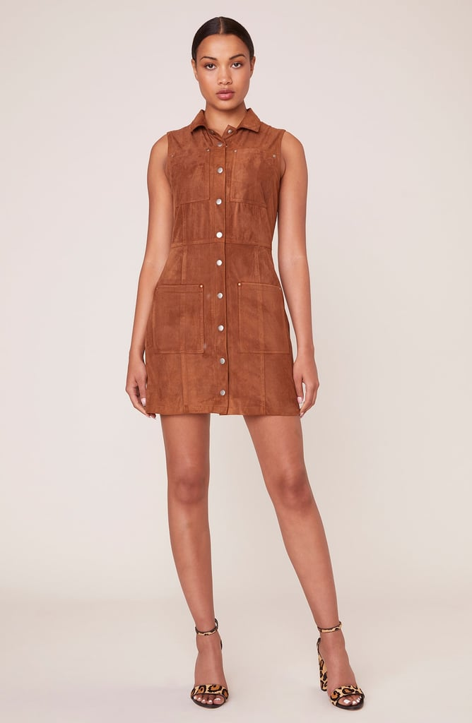 Pocahontas: Suede in Heaven Faux Suede Shirt Dress