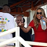 Mariah Carey sipped on Fiji Water in Santa Monica.