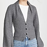 Alexander Wang Ribbed Cardigan With Draped Neck